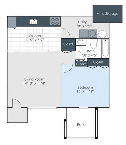 Floor Plan  The Hampton - Renovated