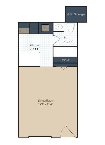 Floor Plan  The Bristol - Renovated