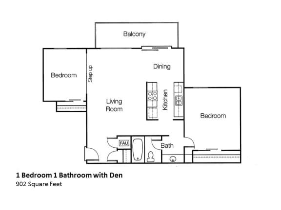 Floor Plan  2x1 Monte Vista Apartments, Apartments, 1825 Foothill Boulevard, opens a dialog.