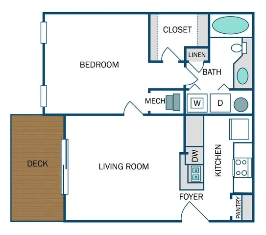 Floor Plan  Madison Renovated (A2R), opens a dialog.