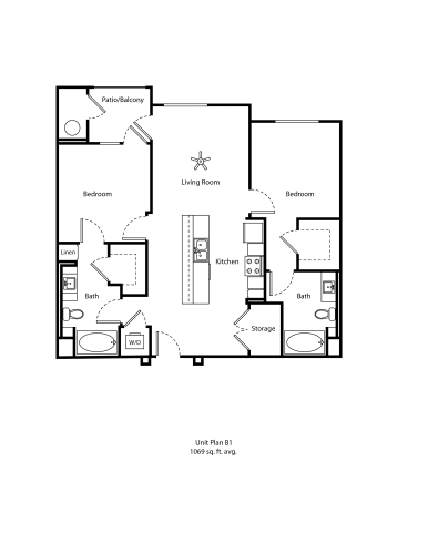 Floor Plan  One11_Corona CA_Floor Plan B1_Two Bedroom Two Bathroom
