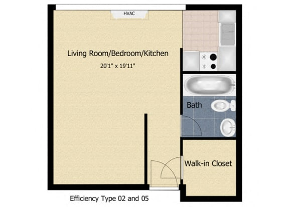 Floor Plan  Tabco Towers Efficiency Floor Plan