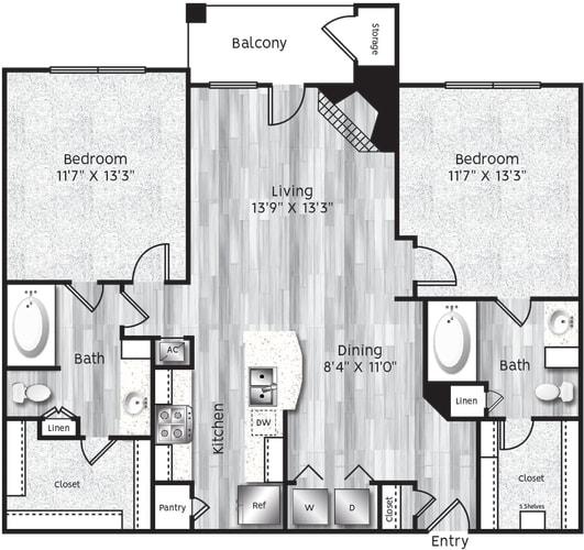 Floor Plan  Beautiful open dinning room and kitchen area