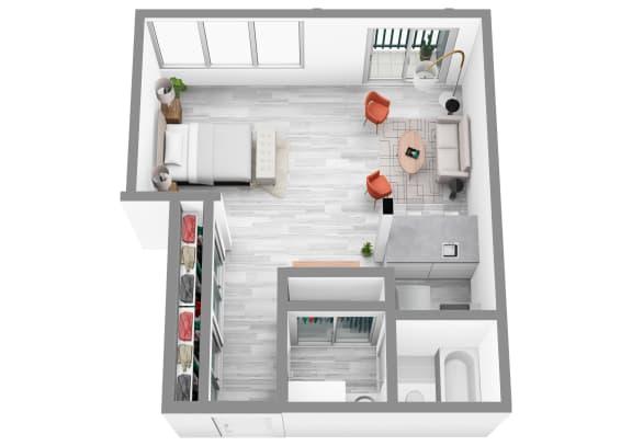 Floor Plan  0 Bed 1 Bath