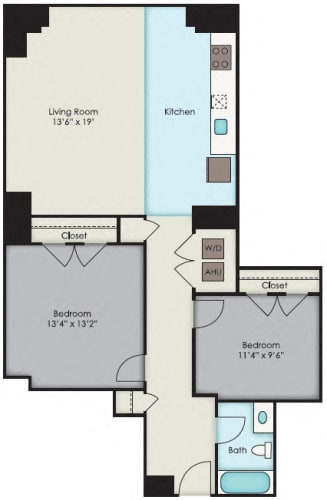 Floor Plan  First National Apartments -  Jefferson Plan