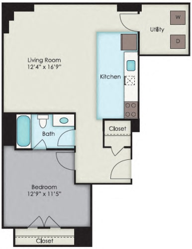 Floor Plan  First National Apartments - National Plan