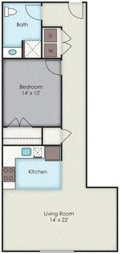 Floor Plan  First National Apartments - Rockefeller Plan