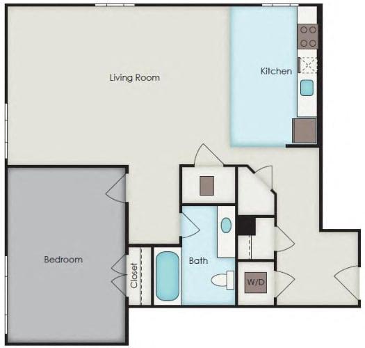 Floor Plan  First National Apartments - Garfield Plan