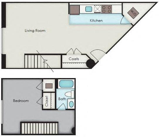 Floor Plan  First National Apartments - Kingsley Plan
