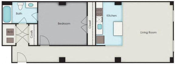 Floor Plan  First National Apartments - Milton Plan