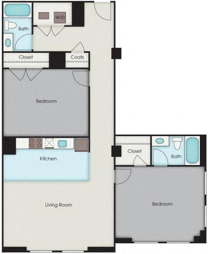 Floor Plan  First National Apartments - Underhill Plan