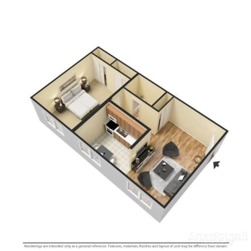 Floor Plan  One Bedroom, opens a dialog.