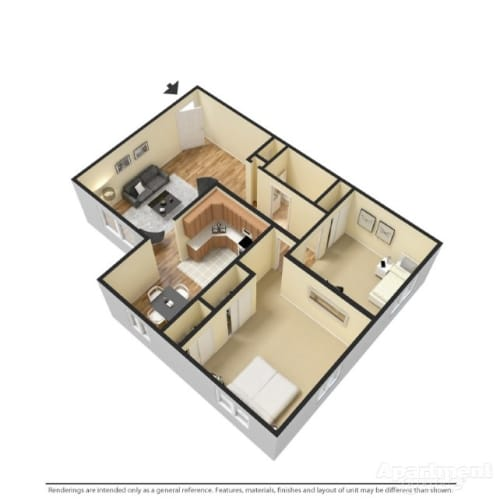 Floor Plan  Two Bedroom, opens a dialog.