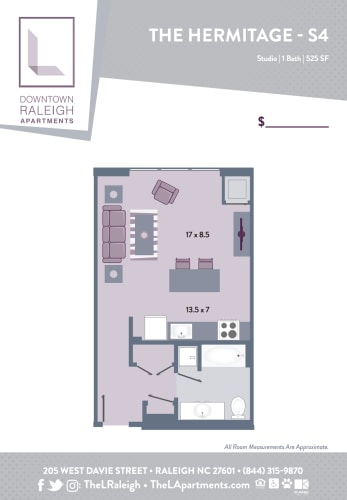 Floor Plan  The L - Downtown Raleigh Apartments