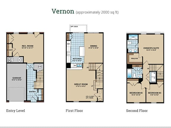 Floor Plan  Floor Plan at Townes at Pine Orchard