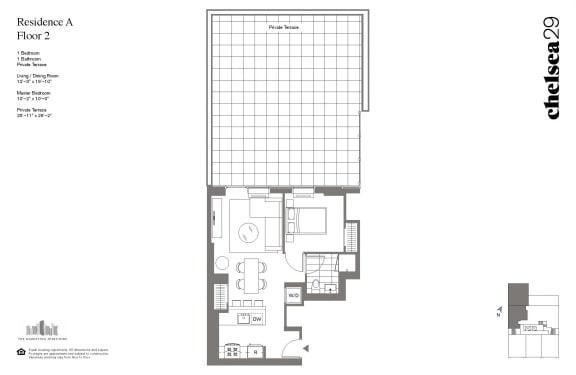 Floor Plan  1 Bedroom Residence