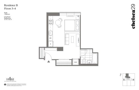 Floor Plan  Studio Residence