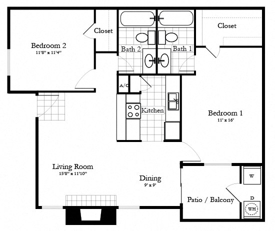 Floor Plan  The Hawthorne, opens a dialog.