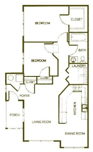 Floor Plan  Two-Bedroom- Cottage