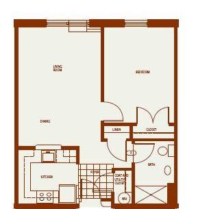 Floor Plan  One-Bedroom, opens a dialog.