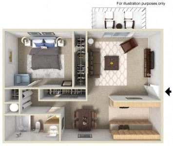 Floor Plan  Westwood Village | Apartments | Floorplan | Alder