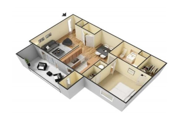 Floor Plan  The Cortez floor plan. l Canyon Vista Apartments in Sparks NV, opens a dialog.