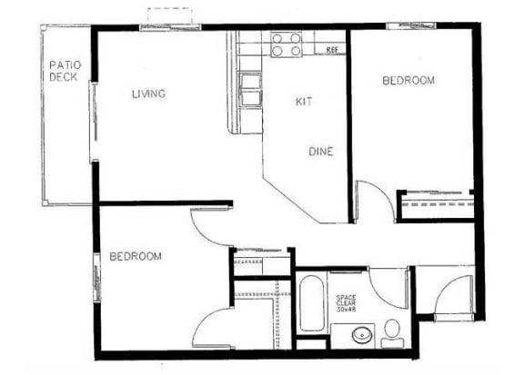 Floor Plan  three bedroom floor plan Vintage At Bend 611 NE Bellevue Drive  Bend, OR 97701
