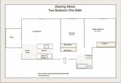 Floor Plan  two bedroom floor plan l Warring Apartments for rent in Berkeley CA