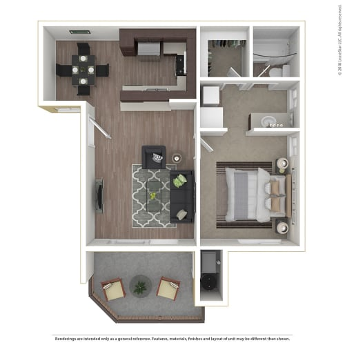 Floor Plan  1BR/1BA 1 Bed 1 Bath Floor Plan at 1750 On First, Simi Valley, CA