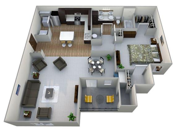 Floor Plan  A2  3D Floor Plan