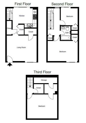 Floor Plan  Three-Bedroom- C1