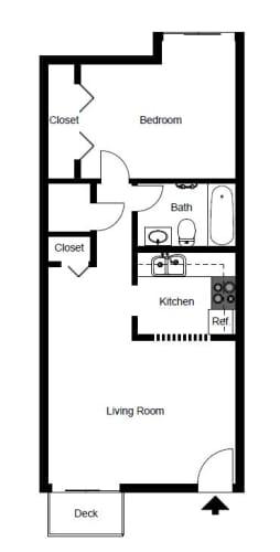 Floor Plan  One Bedroom- A1