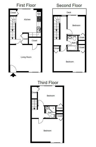 Floor Plan  Four-Bedroom- D