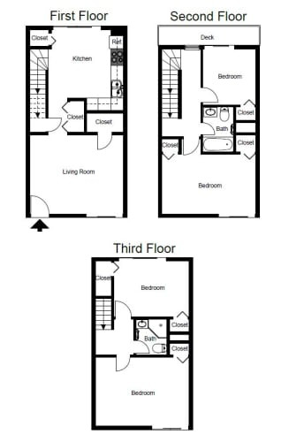 Floor Plan  Four Bedroom- D