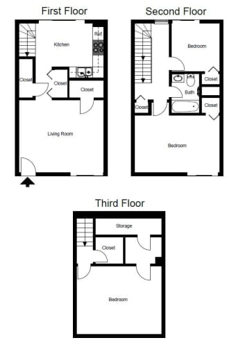 Floor Plan  Three-Bedroom- C1