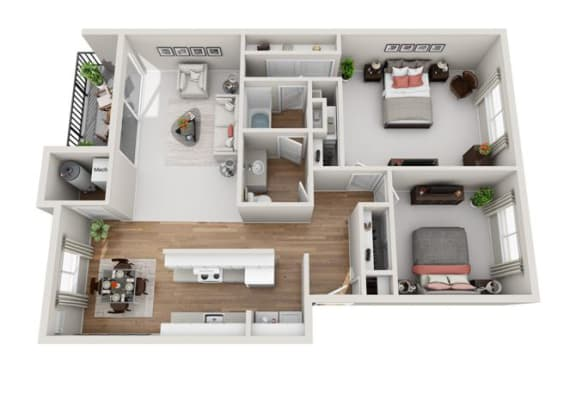 Floor Plan  2 Bedroom 1.5 Bath