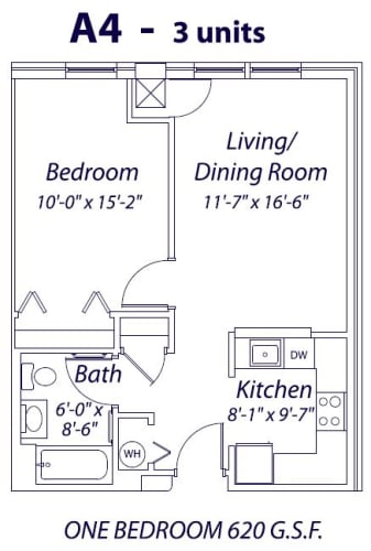 Floor Plan  One Bedroom- A4, opens a dialog.