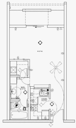 Floor Plan  Studio 390 Sq Ft