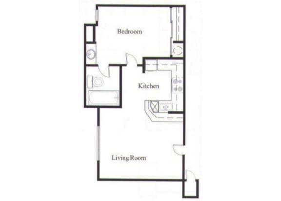 Floor Plan  2 Bedroom Floor Plan At Acacia Hills Apartments in Glendale, AZ
