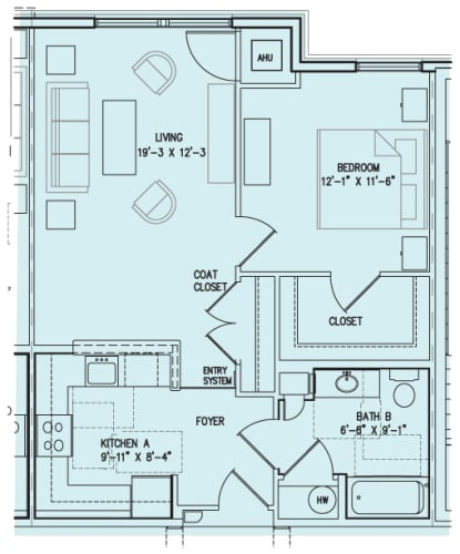 Floor Plan  1 B