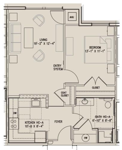 Floor Plan  1C- Accessible