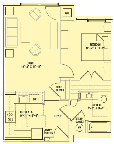 Floor Plan  1 E