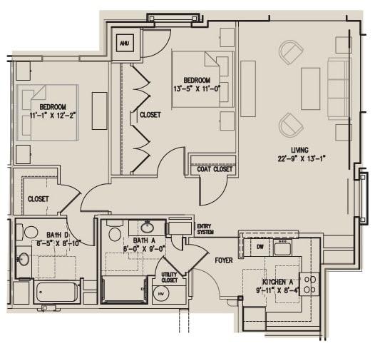 Floor Plan  2 B