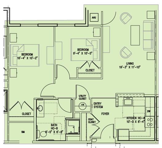 Floor Plan  2 D Accessible