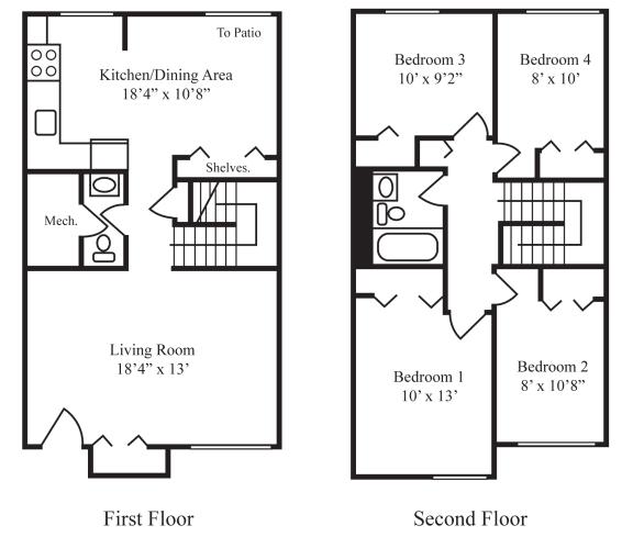 Floor Plan  Four-Bedroom