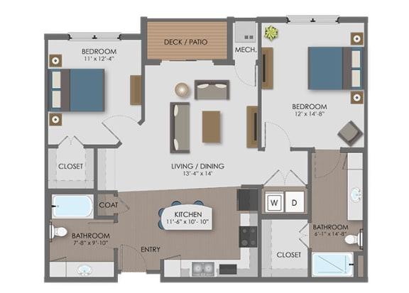 Floor Plan  Floor plan at The Edison at Avonlea, Minnesota,55044