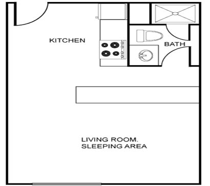 Floor Plan  Studio (Starting at $870)