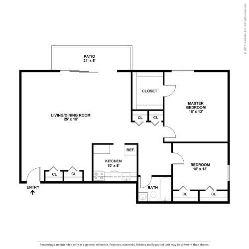 Floor Plan  3 BA 1.5 BR