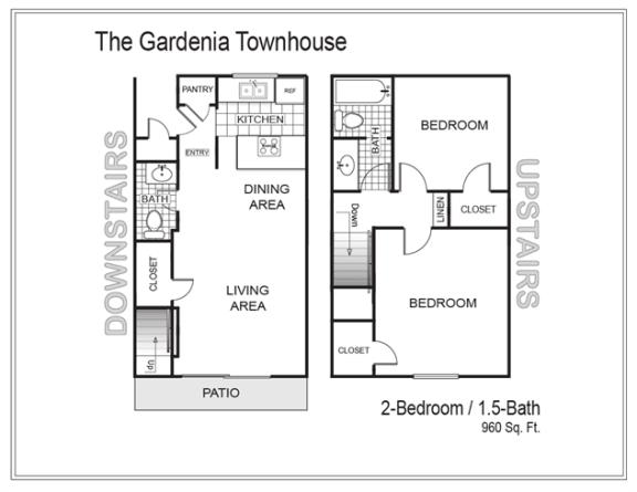 Floor Plan  Gardenia - Townhouse