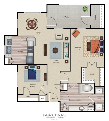 Floor Plan  Fredricksburg
